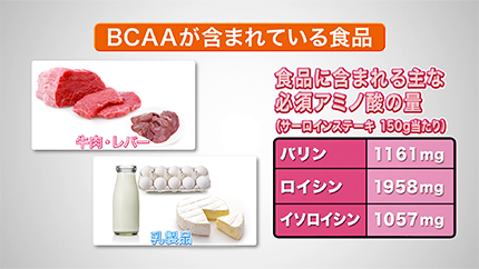 BCAAが含まれている食品